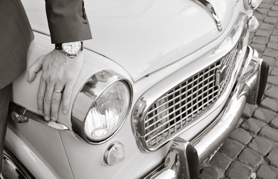 Vintage Cinquecento hire for weddings in Rome | Rome Wedding Team