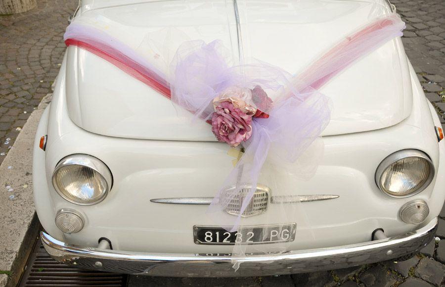 Vintage Cinquecento hire for weddings in Rome   Rome Wedding Team