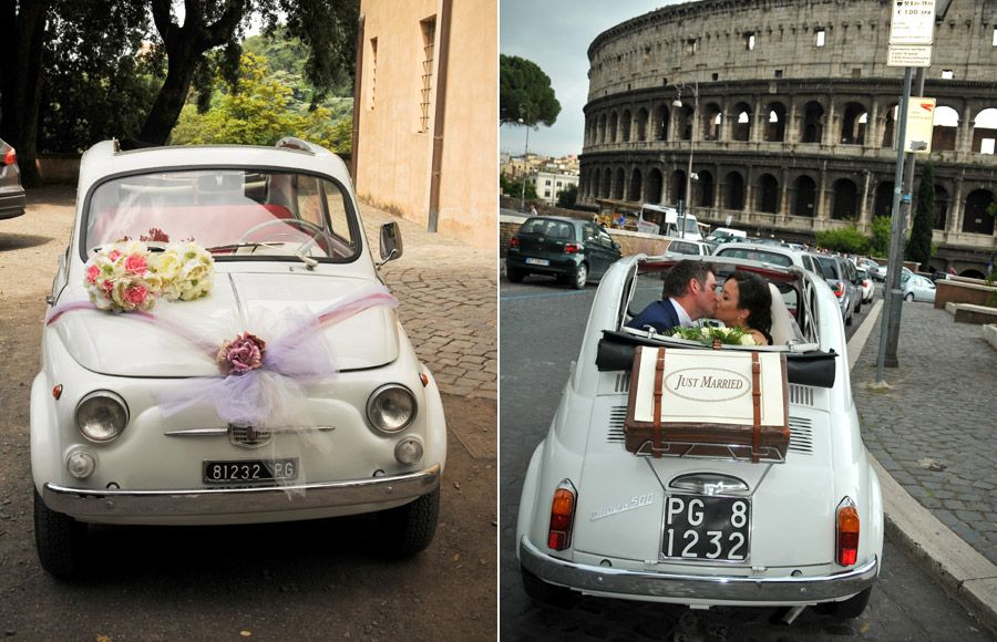 Vintage Cinquecento Hire For Weddings In Rome