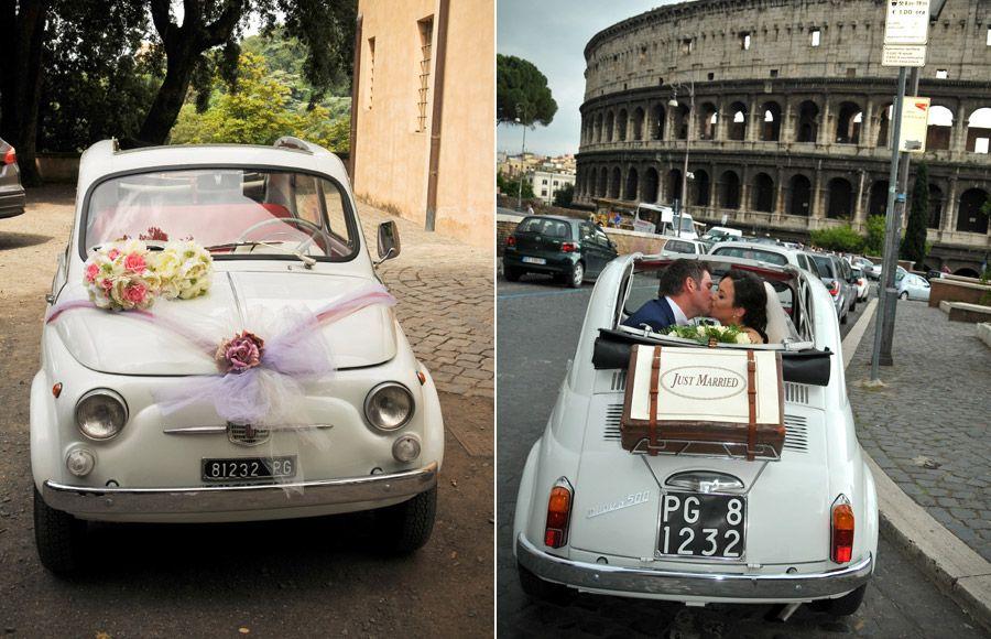 Vintage Cinquecento hire for weddings in Rome | Rome Wedding Team